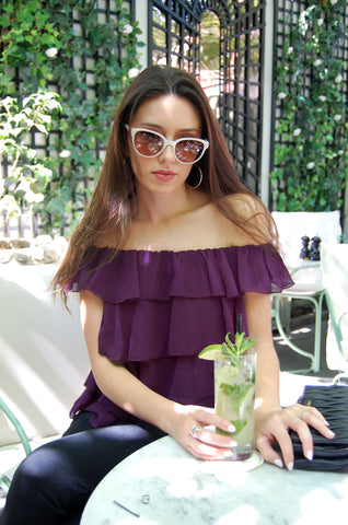 Emily Top in Plum