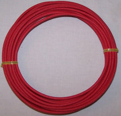 14 gauge Cloth Covered Primary Wire--Red