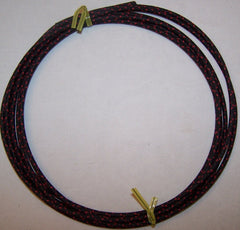 16 gauge Cloth Covered Primary Wire--Black with Red Tracers