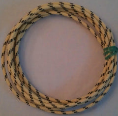 12 gauge Cloth Covered Primary Wire--Yellow with Black Tracers