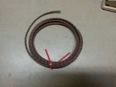18 gauge Cloth Covered Primary Wire--Brown with Black Tracers