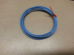 16 gauge Cloth Covered Primary Wire--Blue with White Tracers