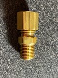 Brass inline check valve for fuel lines
