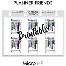 "Load image into Gallery viewer, HP NOTES MICRO Digital Printable ""ORGANIZED"" 4 Sheet Bundle Stickers"