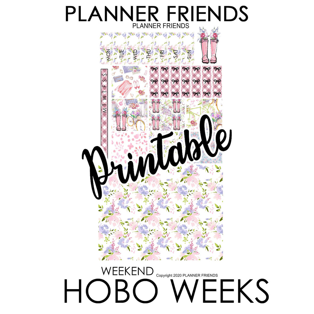 "HOBONICHI WEEKS Digital Printable ""APRIL SHOWERS"