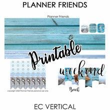 "Load image into Gallery viewer, EC VERTICAL Digital Printable Weekly Stickers ""BEACH"""