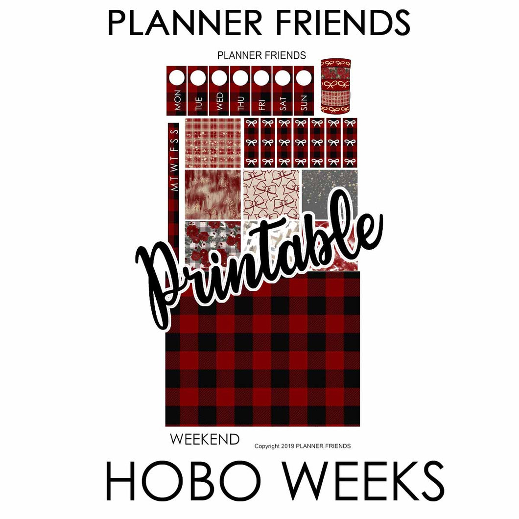 "HOBONICHI WEEKS Digital Printable ""BUFFALO PLAID"