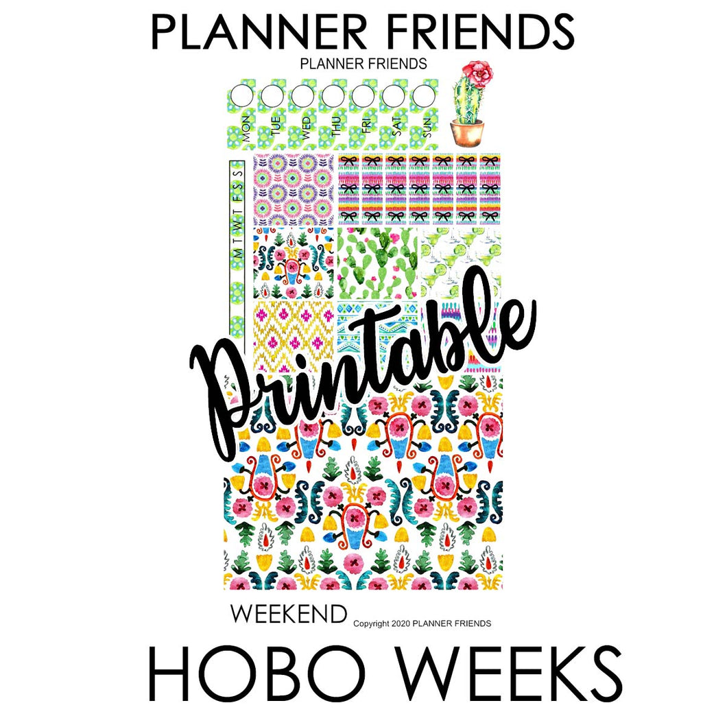 "HOBONICHI WEEKS Digital Printable ""MARGARITA COLLECTION"
