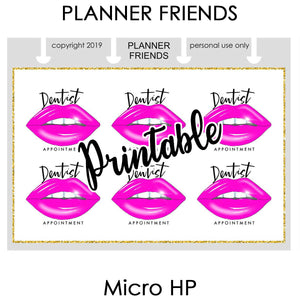 "HP NOTES MICRO Digital Printable ""SELF CARE REMINDERS"" 4 Sheet Bundle Stickers"