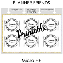 "Load image into Gallery viewer, HP NOTES MICRO Digital Printable ""BIG PLANS"" 4 Sheet Bundle Stickers"