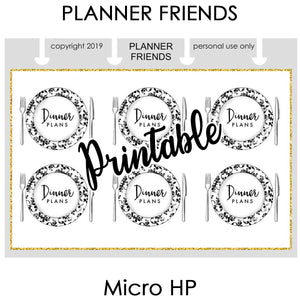 "HP NOTES MICRO Digital Printable ""BIG PLANS"" 4 Sheet Bundle Stickers"