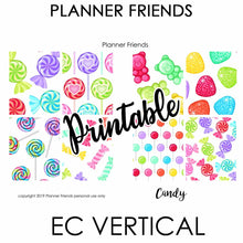 "Load image into Gallery viewer, EC VERTICAL Digital Printable Weekly Stickers ""CANDY"""
