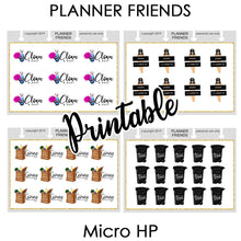 "Load image into Gallery viewer, HP NOTES MICRO Digital Printable ""WEEKLY REMINDERS"" 4 Sheet Bundle Stickers"