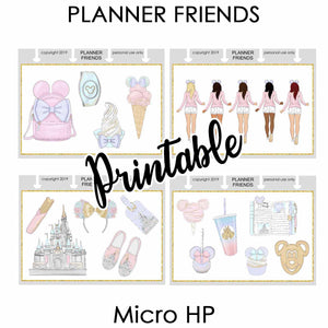 "HP NOTES MICRO Digital Printable ""Magic"" 4 Sheet Bundle Stickers"