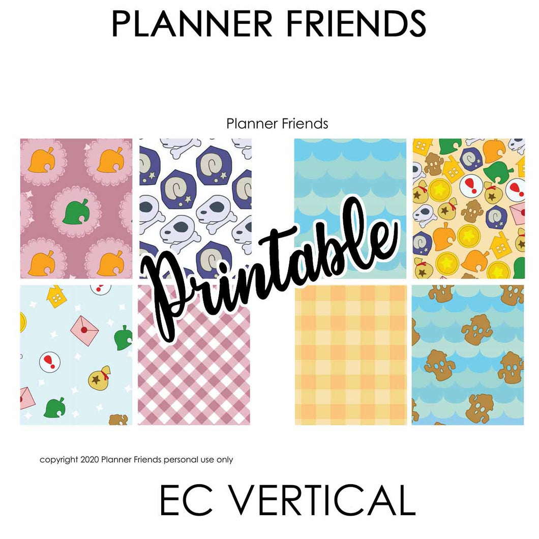 EC VERTICAL Digital Printable Weekly Stickers