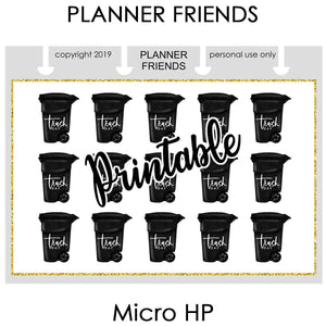 "HP NOTES MICRO Digital Printable ""WEEKLY REMINDERS"" 4 Sheet Bundle Stickers"