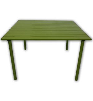A2716G - Table in a Bag.  Low Aluminum Portable - Green  27 x 27 x 16H
