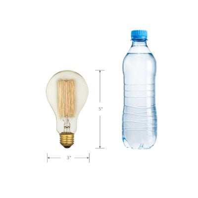 A75 - Edison Filament - Edison Antique Vintage Light Bulb -  - 40 wattage - E26 - 3,000 hrs of life