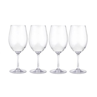 C092004 - Clear Plastic Wine Glasses- 4 Pack
