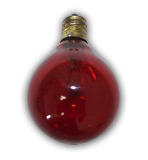 C7G40R - Global Replacement bulb - 1pcs - Red bulb for C7 cord.   Candelbra size bulb.  5 Wattage