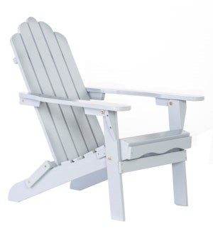 CGADIRF - Folding Gray Wood color Adirondack Chair - Size 38H X 28 X 28
