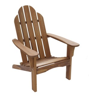 CNADIRF - Folding Natural Wood color Adirondack Chair - Size 38H X 28 X 28