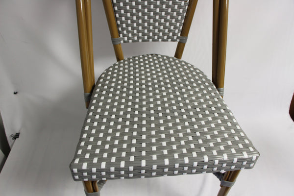 CBCGWW - Grey and White Cafe Bistro Chair