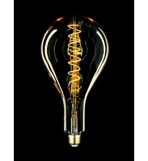 LED160 - Oversize Bulb Shape Style - Swirl Filament -  Edison Antique Vintage Oversize LED Light Bulb - 1 Pack - Medium size. 6 wattage - E26 - 15,000 hour of life.    180 Lumens