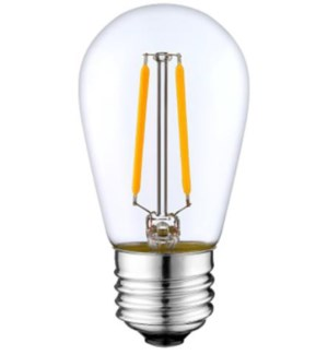 LEDS14C - LED medium size.  LED Amber Glow Bulb  - 1 wattage / Lumenates at 11W - E26 - 30,000 hrs of life