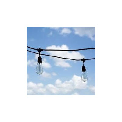 LS482418LEDC - Suspended Commercial Grade - 48 ft - 24 Lights - 2ft apart lights w/ LED bulbs -  18 gauge  UL