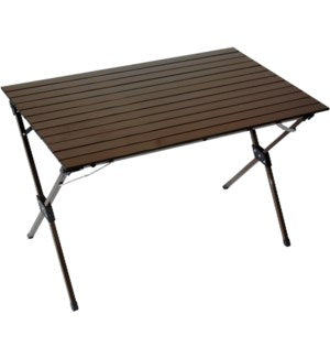 LT4327B - Table in a Bag.   Picnic - Large Aluminum Portable - Brown  43 x 27 x 27H
