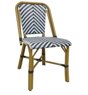 NWCBC - Modern Navy & White Café Bistro Chair