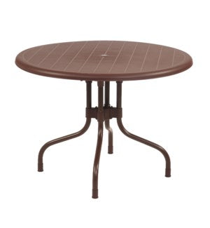 ROUBRN - Brown Round Shape Commercial Grade Table