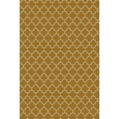 RUG10BRN23 - Quaterfoil Design- Size Rug: 2ft x 3ft brown & white