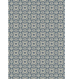 RUG2B57 - Quad European Design - Size Rug: 5ft x 7ft Blue & White