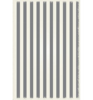 RUG5G46 - Strips of European Design - Size Rug: 4ft x 6ft grey & white colors with a weather aged finish- super durable and multilayer technical grade vinyl rug.