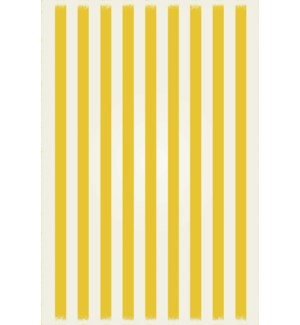 RUG5Y46 - Strips of European Design - Size Rug: 4ft x 6ft yellow & white colors