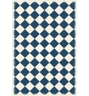 RUG6T46 - Diamond European Design - Size Rug: 4ft x 6ft teal & white colors