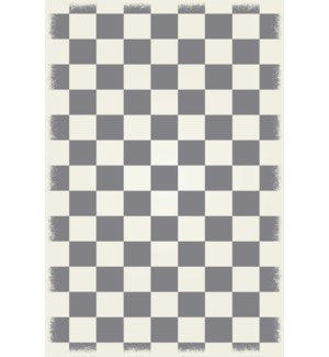 RUG7G46 - English Checker Design - Size Rug: 4ft x 6ft green & white colors