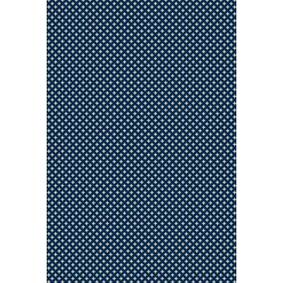 RUG8B46 - Elegant Cross Design- Size Rug: 4ft x 6ft blue & white colors