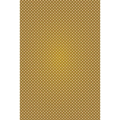 RUG8BRN46 - Elegant Cross Design- Size Rug: 4ft x 6ft brown & white colors