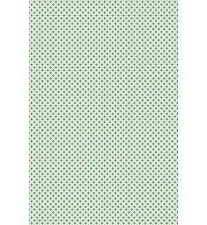 RUG8T46 - Elegant Cross Design- Size Rug: 4ft x 6ft teal & white colors