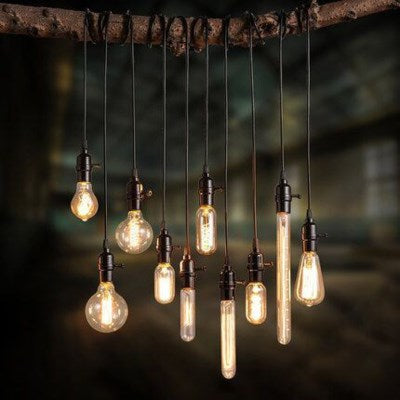 T38 - Edison Filament - Edison Antique Vintage Light Bulb -  - 40 wattage - E26 - 3,000 hrs of life