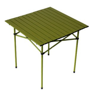 TA2727G - Table in a Bag.  Tall Aluminum Portable - Green  27 x 27 x 27H