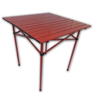 TA2727R - Table in a Bag.  Tall Aluminum Portable - Red  27 x 27 x 27H