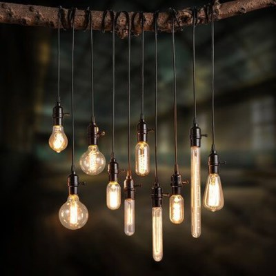 V12501 - Edison Filament - Edison Antique Vintage Light Bulb -  - 40 wattage - E26 - 3,000 hrs of life