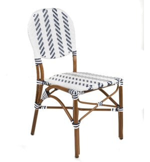 WNCBC - Modern Navy & White Café Bistro Chair