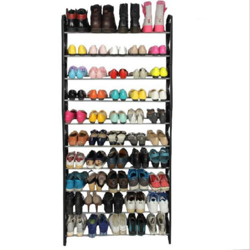 50 Pair Shoes Stanless Steel Tower Rack