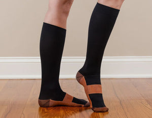 1~10Pairs Copper Infused Compression Socks 20-30mmHg Graduated Mens Womens Lot
