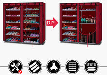 Load image into Gallery viewer, Shoe Rack Shelf Storage Closet Organizer Cabinet Fits 36 Pairs